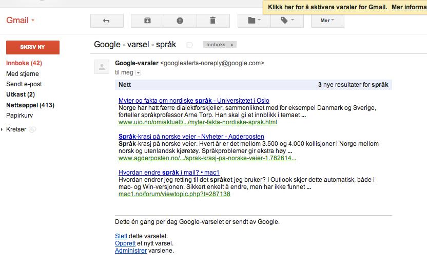 Google Varsel